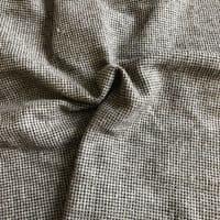 Luxury Wool Blend TWEED Fabric Material - NT19 GREY